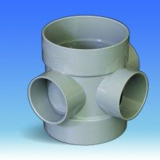 110mm Solvent Soil Three Way Boss Pipe 50mm (Requires Solvent Reducers to go to 40 & 32mm)